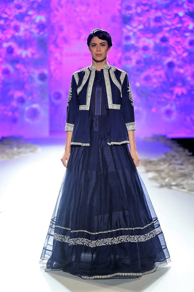 Rahul Mishra Blue dress