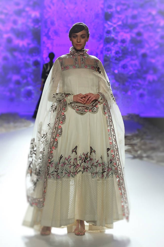 Rahul Mishra Off white Lehnga dress