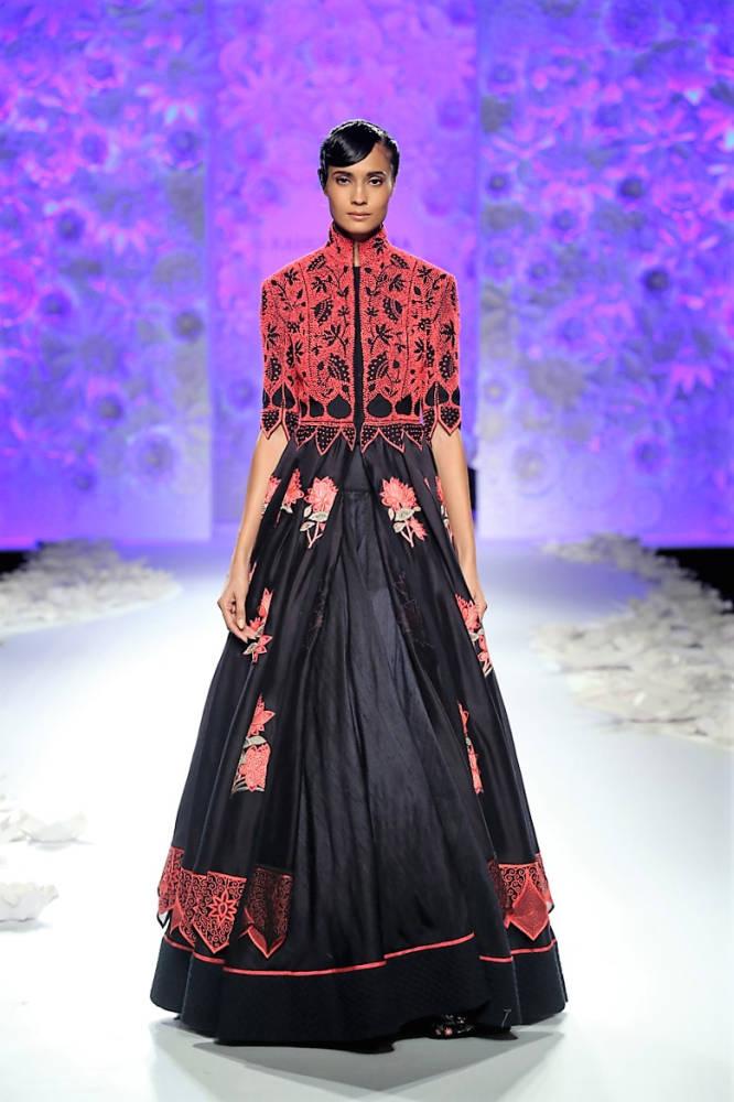 Rahul Mishra Rikee C black dress
