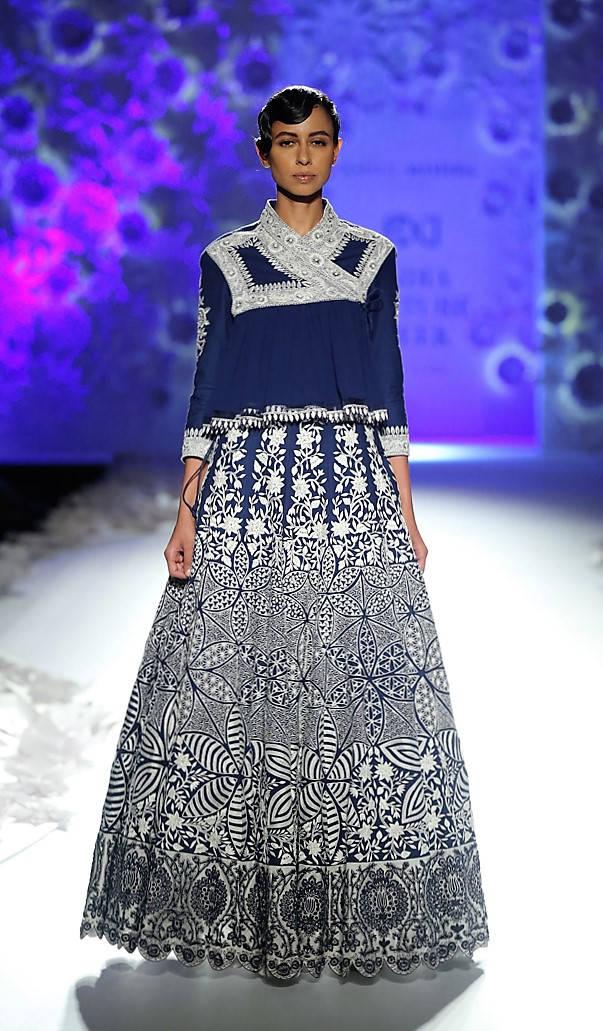 Rahul Mishra Sapna Blue dress