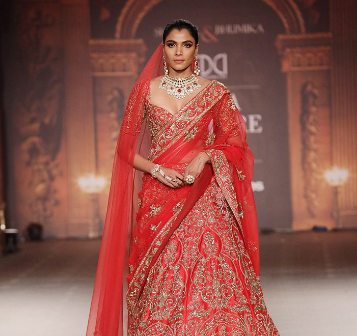 'The Renaissance Muse' by Shyamal and Bhumika at the Indian Couture Week